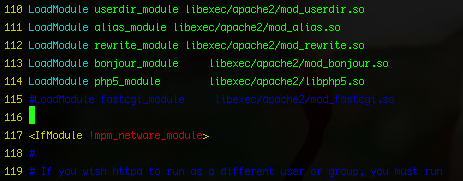LoadModule php5_module in httpd.conf