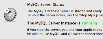 MySQL preference pane