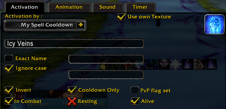 Power Auras Class - spell cooldown settings