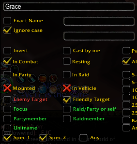 Power Auras Classic - Grace settings