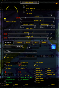 Power Auras Classic - aura settings