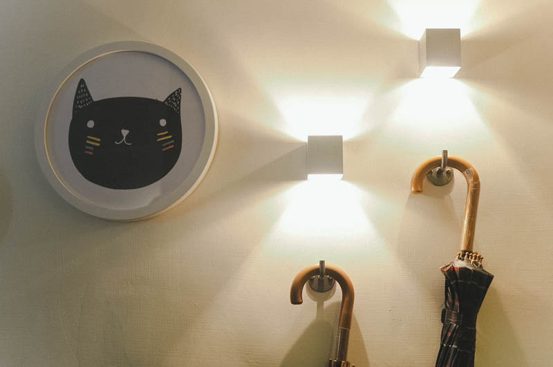 Cute cat-themed decor